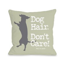 Dog Hair Don't Care Fleece Throw Pillow