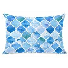 Ocean Moroccan Fleece Lumbar Pillow