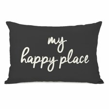 My Happy Place Lumbar Pillow