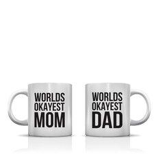 Better Together 2 Piece Worlds Okayest Mom Dad Coffee Mug Set