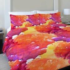 Neon Sunset Fleece Duvet Cover