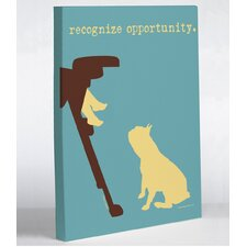 Doggy Decor Opportunity Graphic Art on Wrapped Canvas