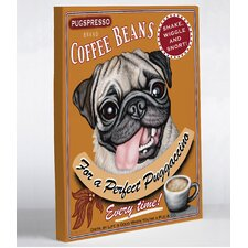 Doggy Decor Puggaccino Graphic Art on Wrapped Canvas