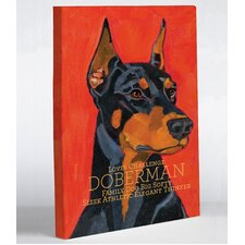 Doggy Decor Doberman 1 Graphic Art on Wrapped Canvas