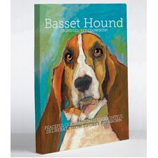 Doggy Decor Basset Hound Painting Print on Wrapped Canvas
