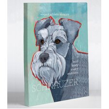 Doggy Decor Schnauzer 1 Painting Print on Wrapped Canvas