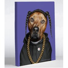 Pets Rock Rap Graphic Art on Wrapped Canvas