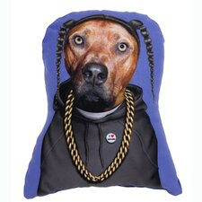 Pets Rock Rap Shaped Throw Pillow