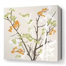 Rhythm Ailanthus Stretched Graphic Art on Wrapped Canvas in Gray