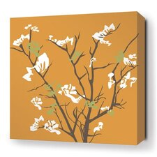 Rhythm Ailanthus Stretched Graphic Art on Wrapped Canvas in Orange