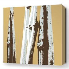Botanicals Bamboo Stretched Graphic Art on Wrapped Canvas in Brown