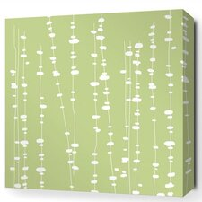 Estrella Pussy Willows Stretched Graphic Art on Wrapped Canvas in Celery