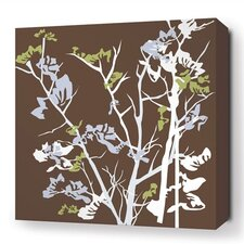 Rhythm Ailanthus Stretched Graphic Art on Wrapped Canvas in Brown
