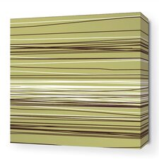 Rhythm Rain Stretched Graphic Art on Wrapped Canvas in Green