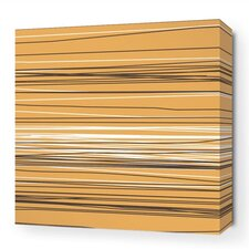 Rhythm Rain Stretched Graphic Art on Wrapped Canvas in Orange