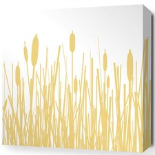 Estrella Cattails Stretched Graphic Art on Wrapped Canvas