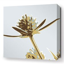 Botanicals Propeller Stretched Graphic Art on Wrapped Canvas in Gold