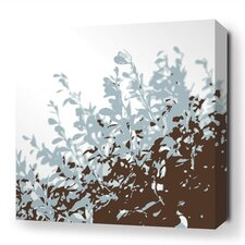 Botanicals Foliage Stretched Graphic Art on Wrapped Canvas in Blue