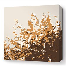 Botanicals Foliage Stretched Graphic Art on Wrapped Canvas in Orange