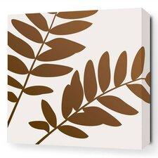 Rhythm Leaf Stretched Graphic Art on Wrapped Canvas