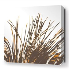 Botanicals Thatch Stretched Graphic Art on Wrapped Canvas in Orange