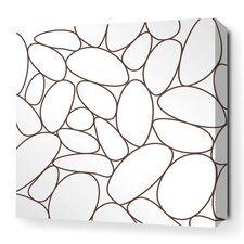 Madera River Rock Stretched Graphic Art on Wrapped Canvas