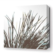 Botanicals Thatch Stretched Graphic Art on Wrapped Canvas in Black