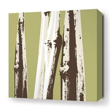 Botanicals Bamboo Stretched Graphic Art on Wrapped Canvas in Green