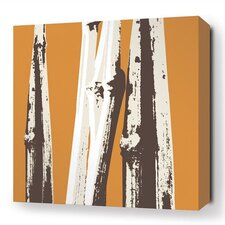 Botanicals Bamboo Stretched Graphic Art on Wrapped Canvas in Orange