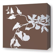 Soak Morning Glory Stretched Graphic Art on Wrapped Canvas in Brown