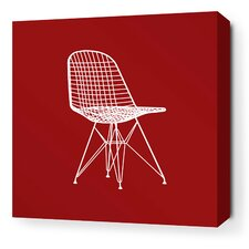 Modern Classics 1951 Stretched Graphic Art on Wrapped Canvas in Red