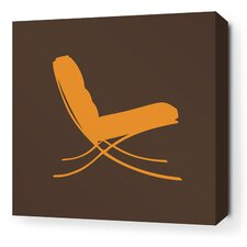 Modern Classics 1929 Stretched Graphic Art on Wrapped Canvas in Sunshine and Chocolate