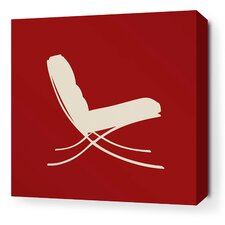 Modern Classics 1929 Stretched Graphic Art on Wrapped Canvas in Red