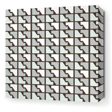 Estrella Faux Houndstooth Stretched Graphic Art on Wrapped Canvas in Cornflower