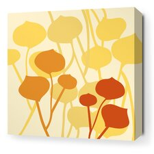 Aequorea Seedling Graphic Art on Wrapped Canvas in Pale Yellow