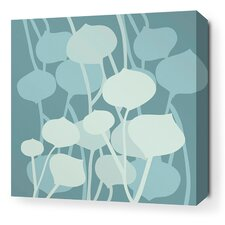 Aequorea Seedling Graphic Art on Wrapped Canvas in Cornflower
