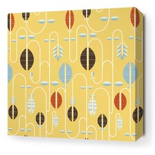 Aequorea Carnival Graphic Art on Wrapped Canvas in Sunflower