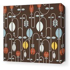 Aequorea Carnival Graphic Art on Wrapped Canvas in Chocolate