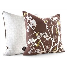 Rhythm Ailanthus Suede Throw Pillow