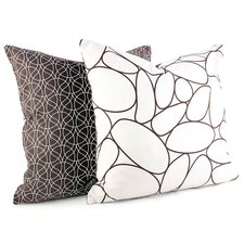 Madera River Rock Suede Throw Pillow