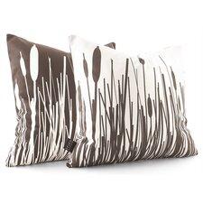 Estrella Cattails Suede Throw Pillow