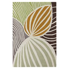 Leaf Natural & Apricot Area Rug