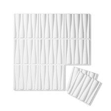 "Drift Wall Flats 18' x 18"" Geometric 3D Embossed 10 Piece Panel Wallpaper (Set of 10)"