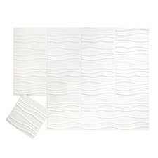 "Tierra Wall Flats 19.7' x 19.7"" Abstract 3D Embossed 12 Piece Panel Wallpaper (Set of 12)"