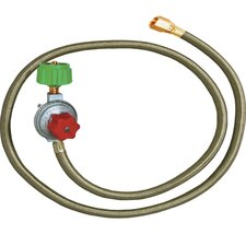 High Pressure Adjustable Regulator and Hose with Male End