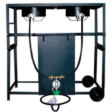 Two Burner Outdoor Cooking Cart Package