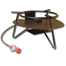 Extra Heavy Duty Double Jet Burner Outdoor Cooker Package with Round Bar Legs