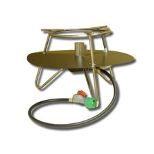 Jet Burner Outdoor Cooker Package with Baffle and Round Bar Legs