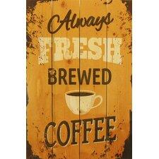 4 Piece Wile E. Wood Always Fresh Brewed Coffee Vintage Advertisement Set