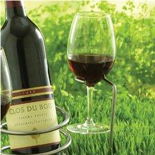 Outdoor 1 Bottle Tabletop Wine Glass Rack (Set of 2)